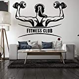 Fitness Club pared calcomanía dormitorio entrenamiento gimnasio vinilo pared pegatina deportes culturismo Interior Art Deco papel tapiz