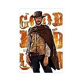 Posters de film classique Clint Eastwood Poster sur toile Décoration murale Impression peinture pour salon chambre à coucher 30 × 45 cm Sans cadre Style 1