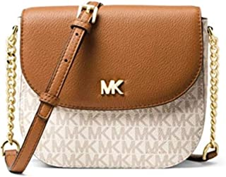 MICHAEL KORS Womens Mott Logo Dome Crossbody Bag, OFF WHITE/BROWN-32S8GF5C0B