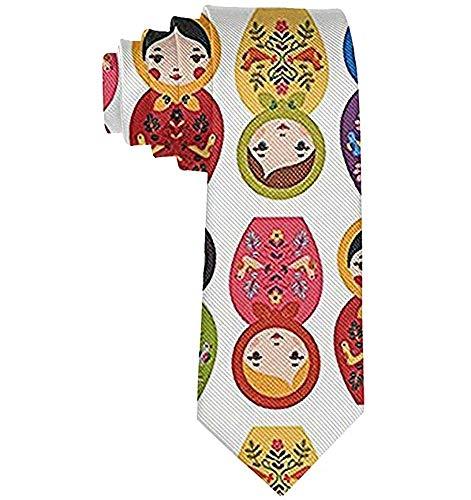 Men 'S Casual Fashion russische Matroschka Nesting Dolls Polyester Seide Casual Gentleman Krawatte Krawatte Geschenk-One Size