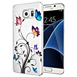 Bohefo Clear Case Compatible with Galaxy S7, Samsung S7 Case for Girls Women, Cute Soft TPU Shockproof Protective Phone Case Cover for Samsung Galaxy S7 (Butterfly)
