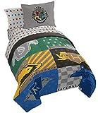 Jay Franco Harry Potter House Pride 7 Piece Full Bed Set - Includes Comforter & Sheet Set - Bedding Features Hogwarts Houses - Super Soft Fade Resistant Microfiber (Official Harry Potter Product)