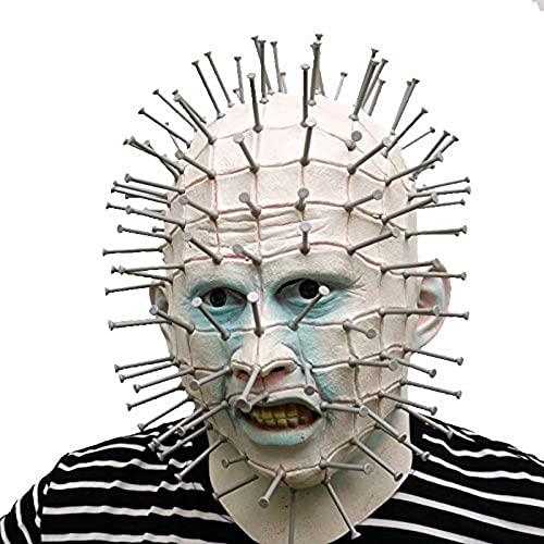 thematys Hellraiser Pinhead con Maschera per Unghie in plastica - Perfetto per Carnevale e Halloween - Costume Adulto - Latex, Unisex Taglia Unica