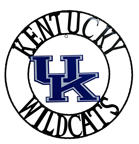 NCAA Kentucky Wildcats Licensed Collegiate Wrought Iron Wall Decor, 24', Blue