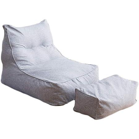 LDIW Housse de Pouf Grande, Housse Pouf Poire Vide, Housse de canapé siège inclinable pour Adultes et Enfants, sans Remplissage,Gris