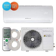 Home Deluxe - Climatisation SET Split XL - Refroidissement A++/ Chauffage A+ - 9000 BTU/h (2.600 watts) - Réfrigérant R32 - Télécommande et fonction minuterie - Incl. matériel de montage complet [classe énergétique A++]