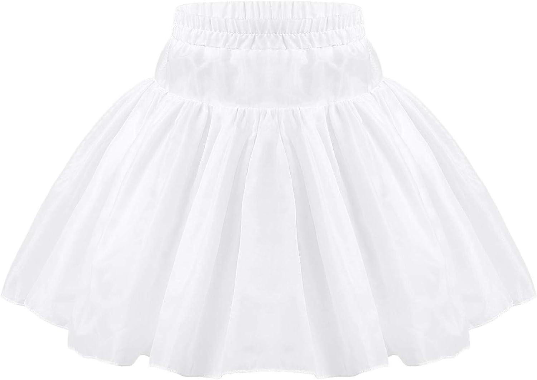 Choomomo Kids Girls Wedding A-Line Petticoat Half Slip Hoopless/2 Hoop Flower Girl Pageant Crinoline Underskirt
