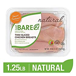 Just BARE Natural Fresh Chicken Breast Fillets   Thin Sliced   Antibiotic Free   Boneless   Skinless