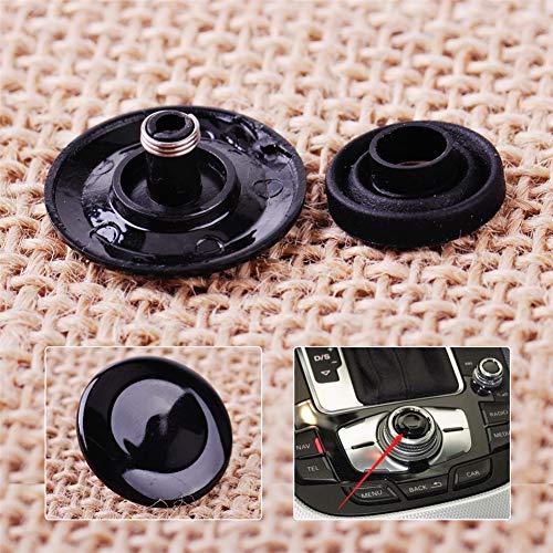 8K0998068A Mmi Knob Joystick Button Repair Kit, MoreChioce Joystick Control Center Button Knob Button Cover Fit for AUDI A4 2009-2013, A5 2008-2015, A6 2005-2011