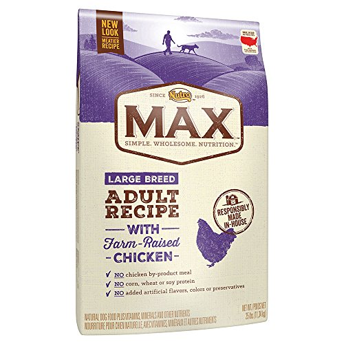 NUTRO MAX Large Breed Adult Recipe With Farm Raised Chicken Dry Dog Food, (1) 25-lb. bag; Rich in Nutrients and Full of Flavor for Large Breed Dogs