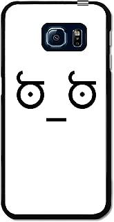 Meme Minimalist Face Black and White Emoticon Emoji case for Samsung Galaxy S6 Edge