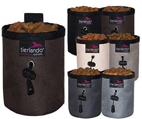 Tierlando® Lio Double-Couche Sac de Friandise Marron Poche Sac à Goûter Leckerli-Beutel Sachet de Nourriture