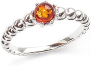 Baltic Amber Gemstone & Sterling Silver 925 Beauty Stone Ring R 47