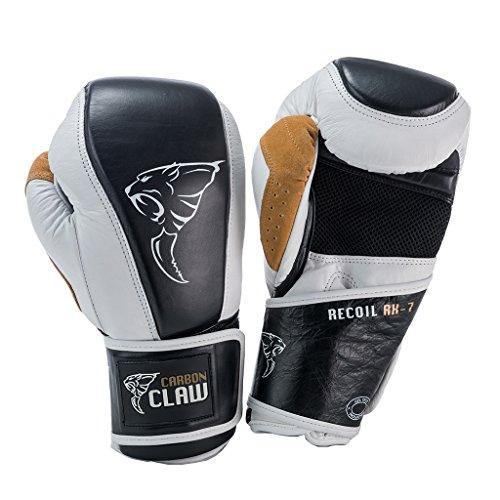 Carbon Claw Recoil RX-7 Lederhandschuhe, Farbe: Weiß/Schwarz, Gewicht: 454 g