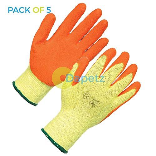 daptez 5x látex Albañiles Guantes Grande Calidad PPE para construcción y Genral USO