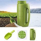 Semillas esparcidoras de mano,contenedor de jardín de plástico práctico para fertilizantes de semillas, sal a dados o gránulos de cualquier tamaño completo