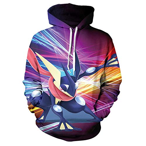 BAOGEGEDE Pullover 3D Printing Men of Pokémon Casual Boys and Girls Pullover Hoodie-Sqbb-886_XL
