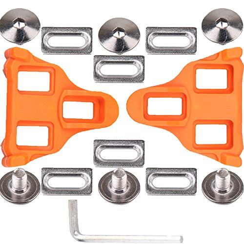 Tacos de Bicicleta, Bicicleta Tacos Carretera Taco de Pedales de Ciclismo con Autobloqueo de Flotador de 6 Grados Compatible con Zapatillas de Sistema Shimano SH-11 SPD-SL