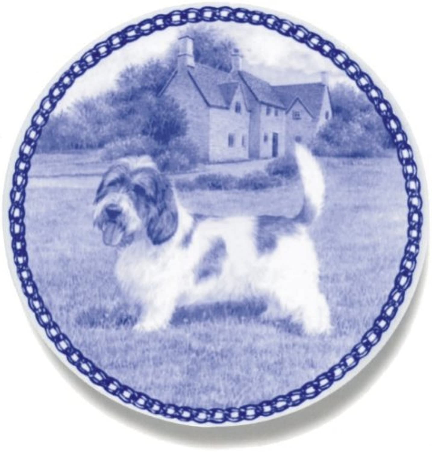 Petit Basset Griffon Vendeen Lekven Design Dog Plate 19.5 cm  7.61 inches Made in Denmark NEW with certificate of origin PLATE  7442