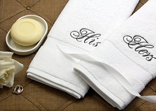 Luxor Linens - Hand Towel Set - 100% Egyptian Cotton Bathroom Hand Towel Sets - Custom Embroidery Available - The Softest, Most Plush Luxury Towels - Available...