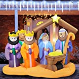 Joiedomi Christmas Scene Inflatable 7 ft with Build-in LEDs Blow Up Inflatables for Christmas Party Indoor, Outdoor, Yard, Garden, Lawn Décor, Holiday Season Decorations