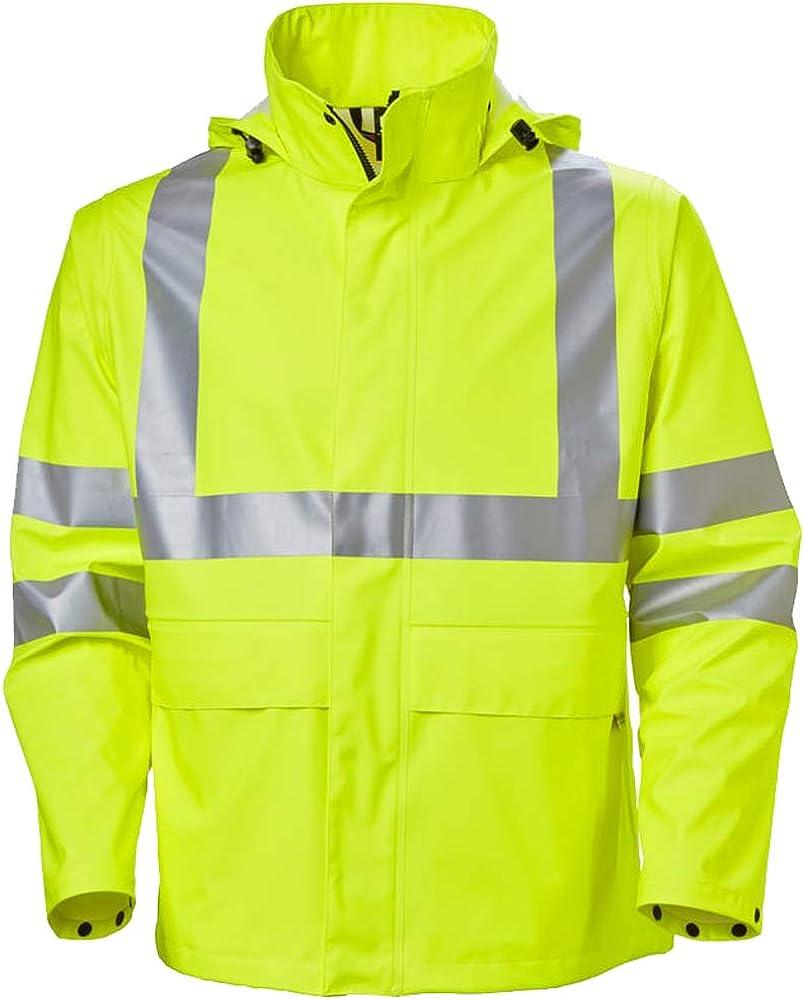 Helly-Hansen Men's Workwear Alta Rain Jacket Ansi, Yellow