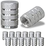 JUSTTOP Car Tire Valve Stem Caps, Air Caps Cover, Universal for Cars, SUVs, Bike, Trucks and Motorcycles, 12pcs-Silver