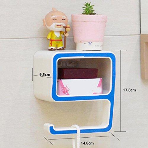 Tapis de bain Xuan - Worth Having Créative numéro 9 Style Porte-Savon Bleu Ventouse Type étagère