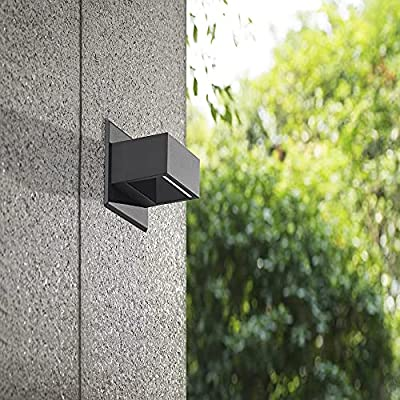 Inowel Waterproof Outdoor Lighting Surface Mounting LED Wall Lamp, Painted Gery Color Aluminium Finished 3000K Warm Light Color