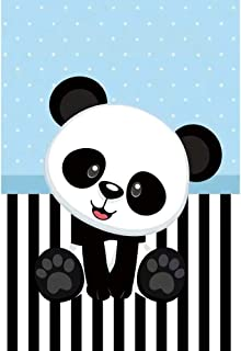 OFILA Kids Panda Party Backdrop 5x6ft Polyester Fabric Baby Boys Girls Panda Birthday Photo Booth Panda Baby Shower Photos Background School Events Decor Video Children Room Wallpaper Props