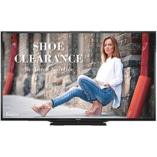 """Sharp 80"""" Class Full HD Commercial LED TV (PN-LE801) with 2X 6ft High Speed HDMI Cable Black, Ultra Slim Low Profile Flat Wall Mount for 60-100 Inch TVs & TV/LCD Screen Cleaning Kit"""