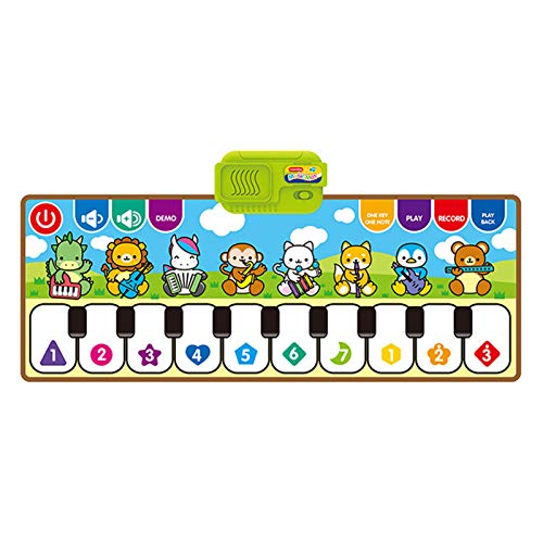Yeglg Klaviermatte für Kinder, multifunktionale Klaviermatte, Musikspielzeug, Musik, Singen, Fitnessstudio, Teppich, Touch-Spiel, Klaviertastatur, Geschenk für Kinder, Baby, Kleinkind, Musikmatte