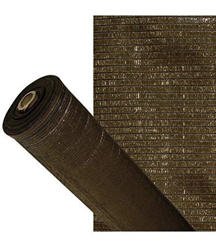 PAPILLON Malla Sombreo 90%, Rollo 4 x 50 metros, Reduce Radiación, Protección Jardín y Terraza, Regula Temperatura, Color Marrón