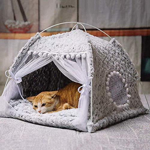 YVX Tienda para Mascotas, con Cama extraíble y Lavable para Gatos, Cama Inferior Antideslizante para Mascotas, iglú para Gatos semicerrado, casa Cueva para Gatos, se Aplica a Interiores/exteri