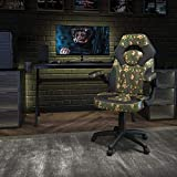 Flash Furniture X10 Gaming Chair Racing Office Ergonomic Computer PC Adjustable Swivel Chair with Flip-Up Arms, Camouflage/Black LeatherSoft