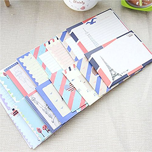 HUELE 32 Cute Lovely Kawaii Special Design Writing Stationery Paper with 16 Envelope