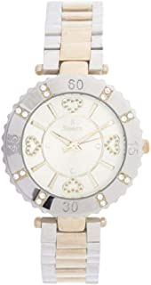 Sunex Women's White Dial Stainless Steel Band Watch, S6383TW