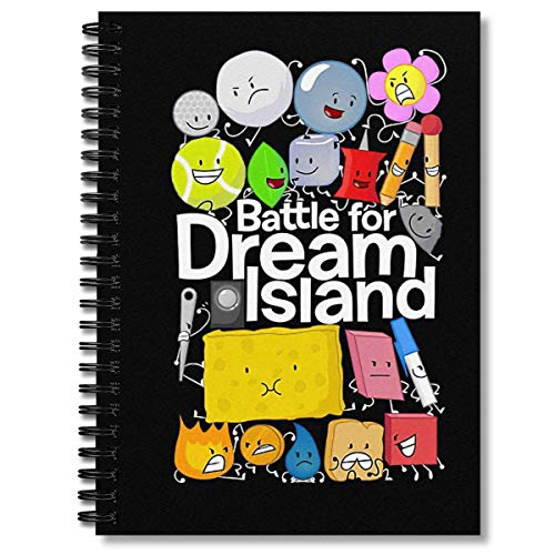 Spiral Notebook Bfdi Black Composition Notebooks Journal With Premium Thick Paper