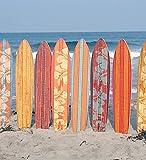 VAELSON Duschvorhang 180x180 cm Enjoy Beach und Surfing incl. Ringe mit verstärkte Lochleiste & Gewichtsaum Antibakteriell Antischimmel