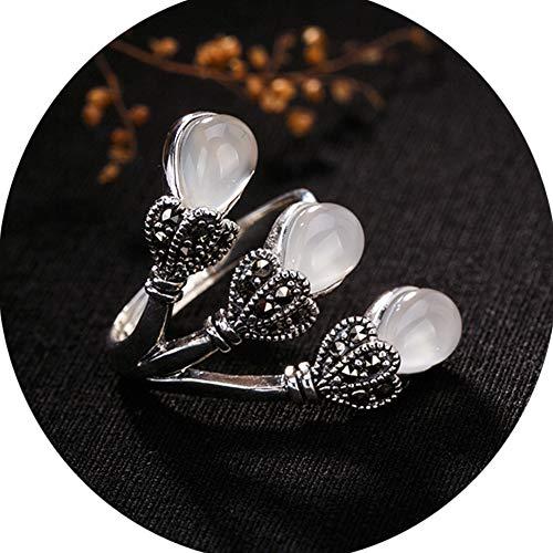 Mujer Collar Anillos Plata De Ley Piedras Preciosas
