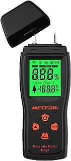 Tykeed Handheld Mini Wood Moisture Meter Digital LCD Lumber Damp Meter Detector Tester 2 Pin Probe Range 2%~70%