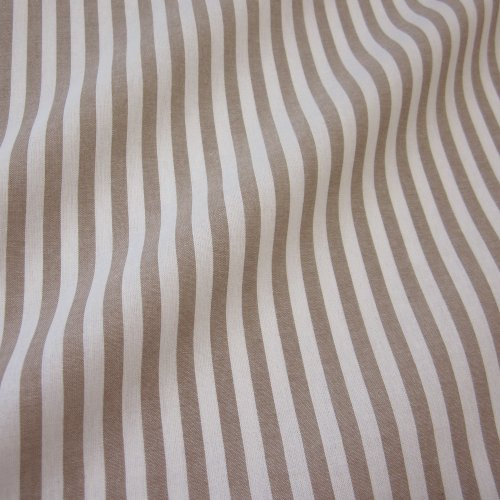 Tissu au mètre blanc rayures taupe bauernstreifen taupe rideau rayé style maison de campagne