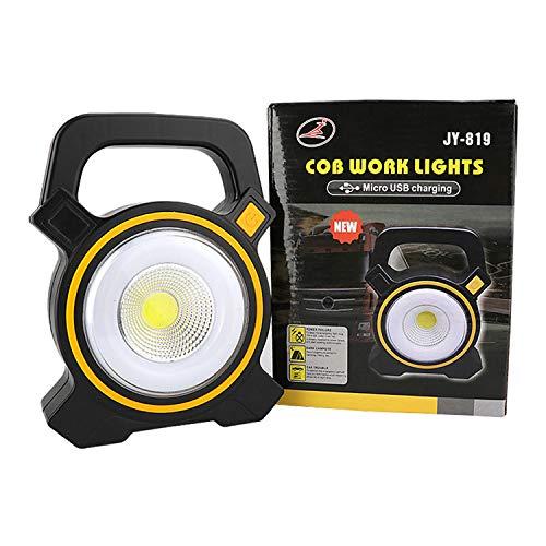 TYMWL Kampierende helle Notlichtleuchte LED-Beleuchtung im Freien Wieder aufladbare tragbare Solararbeitslampe
