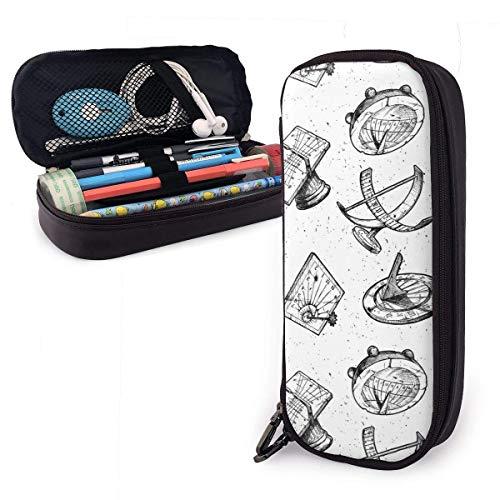 QQIAEJIA Estuche para lápices con patrón de reloj de sol diferente, estuche para bolígrafos con doble cremallera, estuche para adolescentes, niños, escolares, adultos, personalización personalizada