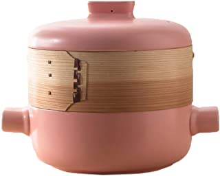 ZXYY Casserole Pots Ceramic Pots Durable pan Easy to Clean Resistant to Cold and Heat (Color: Pink Size: Capacity 1.5L)