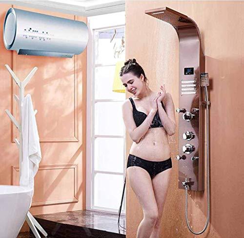 Taps, sistema de ducha, juego de ducha de baño, ducha con panel de ducha con masaje corporal SPA y grifo mezclador giratorio del caño