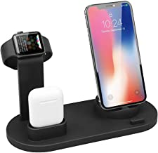 Wireless Charger for Apple Watch, ATETION 3 in 1 Charging Stand Compatible with iWatch Series 5/4/3/2/1, Compatible for AirPods and iPhone 11/Xs/X Max/XR/X/8/8Plus/7/7 Plus /6S Plus