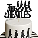 KAPOKKU Music Rock Cake Topper for The Beatles Theme Cake Decorations Glitter Party Supplies
