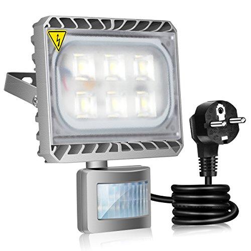 Gosun 50W Projecteur LED Détecteur de Mouvement Eclairage Murale Extérieur Étanche 6000K 4500LM Lumière Lampe de Sécurité Idéal pour Jardin