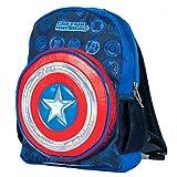 Captain America Shield Marvel Avengers Hero Backpack with LED Lights (Navy)